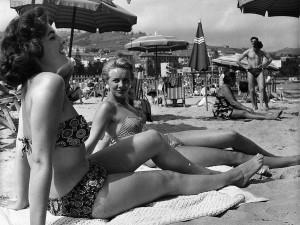 Así se veían las playas de California en 1954.