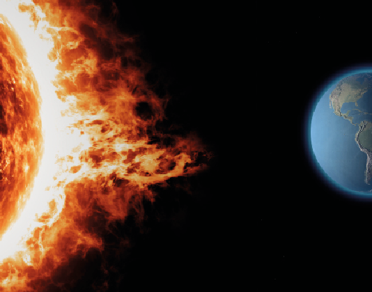 66 % de la radiación solar atraviesa la atmósfera y alcanza a la Tierra. Los rayos UV sólo representan  5 %, pero casi todos ellos son causa de enfermedades  cutáneas.