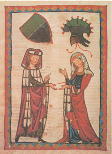La fresca emotividad de la relación de pareja fue un invento de la poesía medieval,  exaltada por la separación de los enamorados.